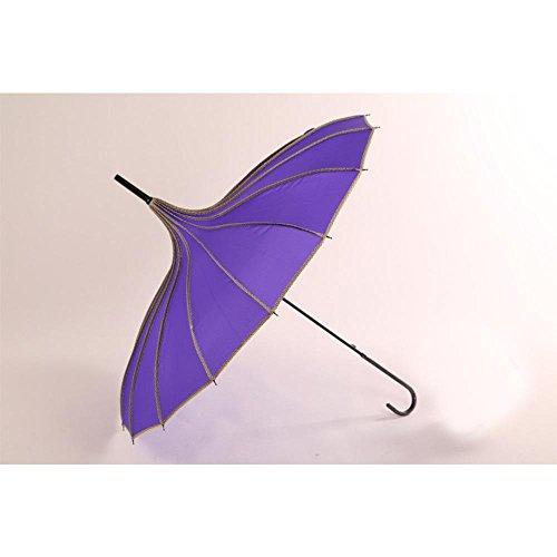 SEABECCA Retro principessa Umbrella Umbrella Plain Sun ombrelloni ombra , viola