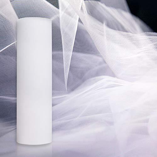 Gudotra 35 metri rotolo bobina di tulle organza bianco decorazione per matrimonio sedie tavolo auto compleanno natale addobbi per cerimonie nunziali