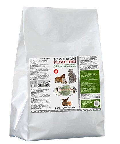 Katzenfloh Ade!!!! Kieselgur, AntiFloh Puder, Flohmittel für Katzen, Kieselerde gegen Katzenflöhe, Biozid, hochwirksam gegen Flöhe, ohne chemische Zusätze, Tomodachi Flohfrei 10kg Sack