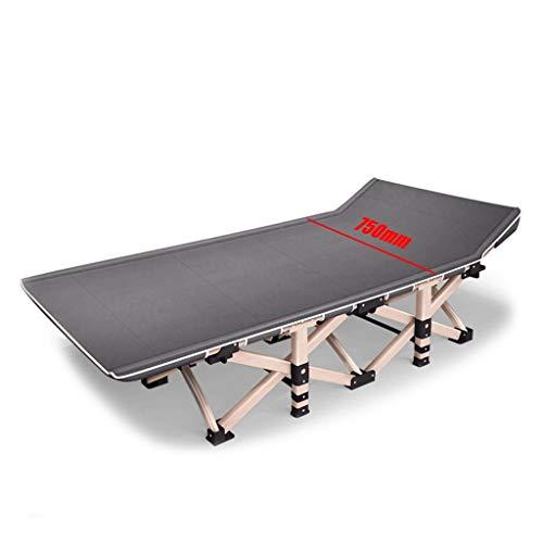 Einzelnes Campingbett Klappliegen, 5 Sekunden Installation, Metallstruktur 1200D Oxford-Stoff PE-Bett Fußlast bis zu 200 kg 190x75x36 cm Feldbett (Color : Gray L)