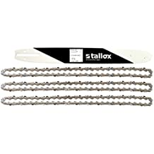 """1 espada y 3 tallox cadenas de sierra 3/8"""" 1,3 mm 56 eslabones 40 cm compatible con Oregon Dollmar Einhell Makita Black & Decker y otras"""