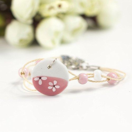hrcxue hand-woven Ceramic Bracelets Simple Forest Female Student Girlfriends Trinkets -