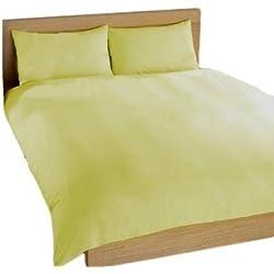 Charlotte Thomas Falda de cama de percal (90 x 190 cm), color crema