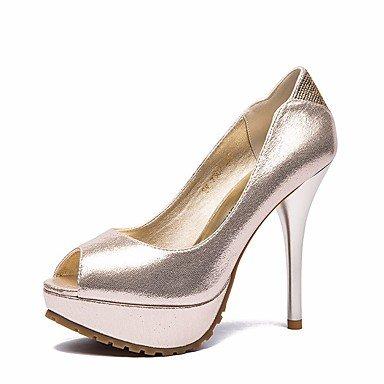 Oro SANMULYH Casual Pu Molla DonneS Heel Stiletto Comfort Tacchi Nero Scarpe Per Oro Cadere vqPvxp4twr
