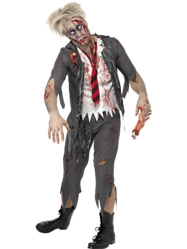 Erwachsene Halloween Fancy Dress Zombie School Boy