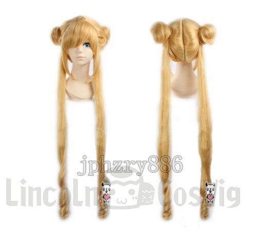 Sailor Moon peluca sistema de oro superficial mes liebres calor cosplay peluca cosplay pelucas cosplay de suministros animado pelucas