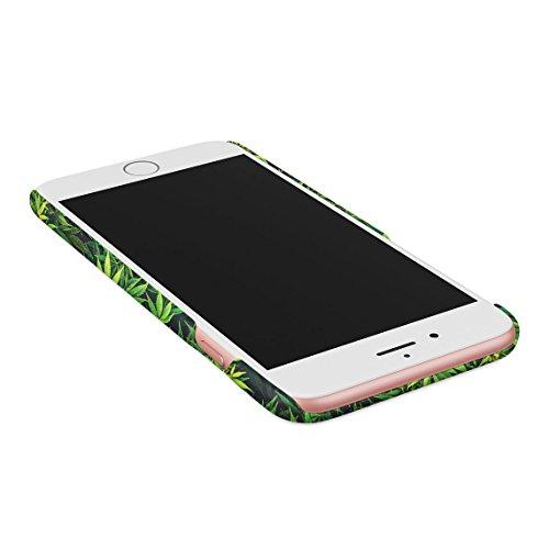 Puff Puff Pass Cannabis Leaves Pattern Dünne Rückschale aus Hartplastik für iPhone 6 Plus & iPhone 6s Plus Handy Hülle Schutzhülle Slim Fit Case cover Trippy Chill