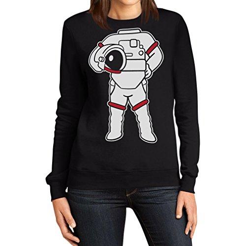 Astronauten Kostüm Druck Karneval Fasching Verkleidung Frauen Sweatshirt Small ()