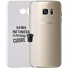 Cover per Tutti Gli Smartphone Samsung s4 s5 s6 s7 s8 + Note 4 Note 5 - ha Una PATTUMIERA al Posto del Cuore con Protezione della Fotocamera Custodia Ultra Sottile