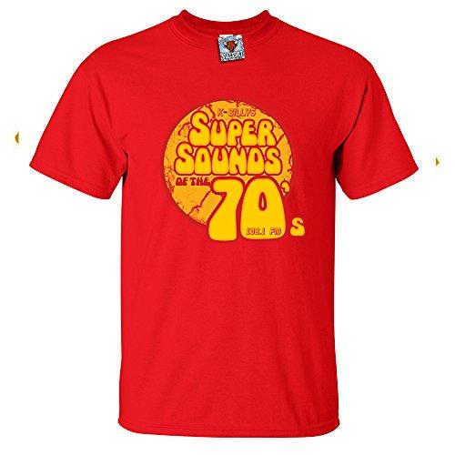 Bullshirt 's Herren 's Super Klang der Siebziger T-Shirt. rot