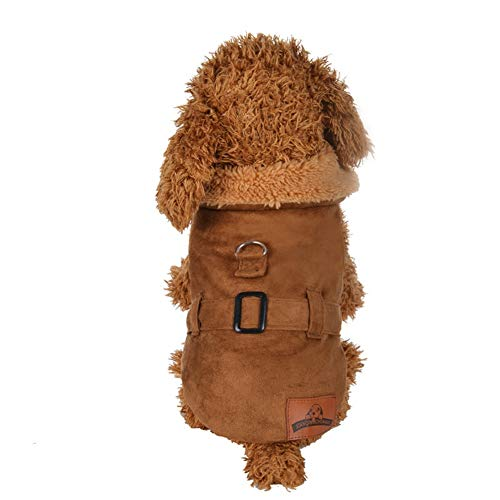 Hunter Kostüm Hunde - Bluelucon Stricken Hund Hoodie Pullover Haustier Katze Welpen Mantel Kleine Haustier Hund warme Kostüm Bekleidung Hundejacke mit Kapuze, Rosa, Wintermantel/Winterjacke