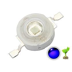 10 Pieces 3W Watt Royal Blue 445-450nm BRIDGELUX Power LED Diode Chip for DIY Grow Light for Planted Marine Saltwater Coral Reef Aquarium Fish Tank Hydroponics