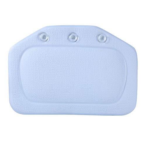 lijunjp Soft Bath Spa-Kissen, tragbares wasserdichtes Kopf-Nacken-Kissen, Frottee in Komfortqualität mit sicheren Saugnäpfen für Bad, Reise, Hotel