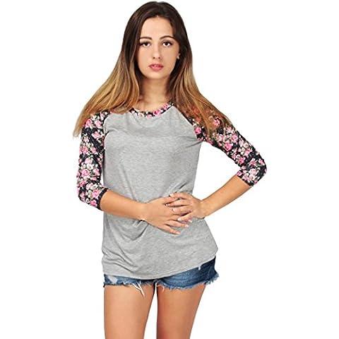 WINWINTOM Le Donne Camicia Casual Camicetta Allentato Manica Lunga T-shirt