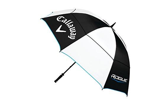 Callaway Golf Parapluie Rogue (172,7cm, Double Canopy, Un Réglage Manuel), Noir/Blanc