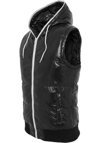 Urban Classics Weste Hooded Bubble Vest, black/white, Größe S - Herren Bubble Vest