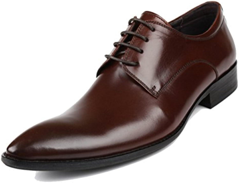 ZPFDY Zapatos De Cuero De Gran Tamaño De La Manera del Banquete Ocasional del Cordón del Negocio De Los Hombres... -