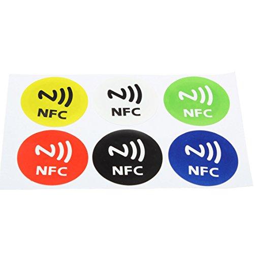 NFC inteligentes Etiquetas engomadas - SODIAL(R)6Pzs Impermeable NFC inteligentes etiquetas engomadas RFID...