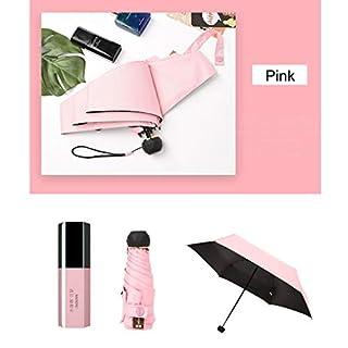 TAOtTAO Lippenstift-Regenschirm Mini Light Kleine Taschenschirme Anti-UV-Falten, kompaktes Gehäuse Neuer Lippenstift-Regenschirm Mini-Taschenschirm Sonnenschutz UV-Regen und Regen 50% Sonnenschirm (C)