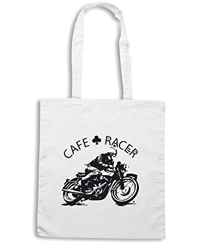 T-Shirtshock - Borsa Shopping TB0116 cafe racer Bianco