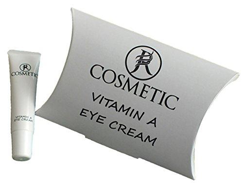 Eye Cream mit Vitamin A, Anti-Aging Augen Creme, Anti Aging-Effekt durch Weizenkeimöl, Aloe Vera & Bisabolol wirken zellregenerierend, für die feuchtigkeitsarme und empfindliche Haut und strahlende Augen