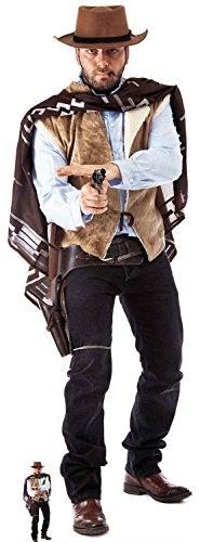 Unbekannt Cowboy in Lebensgröße cardboardcut Out mit gratis Mini-Schnitt, Karton, Mehrfarbig, 178x 61x 178cm
