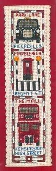 Textile Heritage Collection Kreuzstich-Set Lesezeichen Londons Straßen