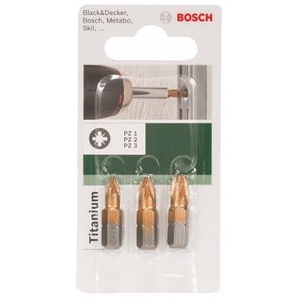 Bosch 2 609 255 968 – Juego de 3 puntas de destornillador de titanio (PZ) (pack de 3)