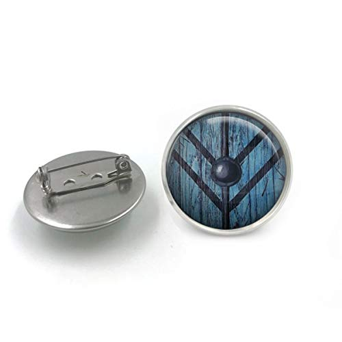 Antike Bronze Viking Shield Maiden Glaskuppel Button Pin Abzeichen  Lagertha Schild Abzeichen  Viking Lover  Pinup Abzeichen  Geschenk für sie  Geschenk für Frauen 06