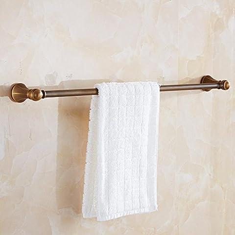 Czoor Luxe Laiton Singl Barre porte-serviettes antique en acier inoxydable Barre de serviette d