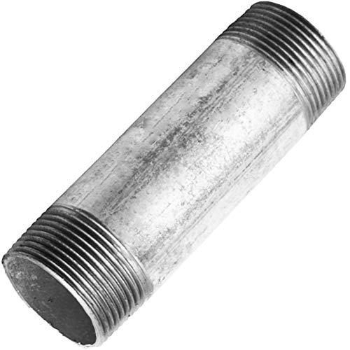 GEWINDE FITTING aus TEMPERGUSS verzinkt > Nr.23 Rohrnippel AG(R) x AG(R) > 1/4 bis 4 Zoll 40 bis 200mm Länge WUNSCHGRÖSSE einfach selbst wählen >>> 1 1/4 Zoll Länge 150mm (2 1 Rohr Stahl 2)