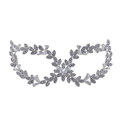PIXNOR Strass Kristall venezianische Maskerade-Maske für Frauen (Frauen Maskerade Maske)