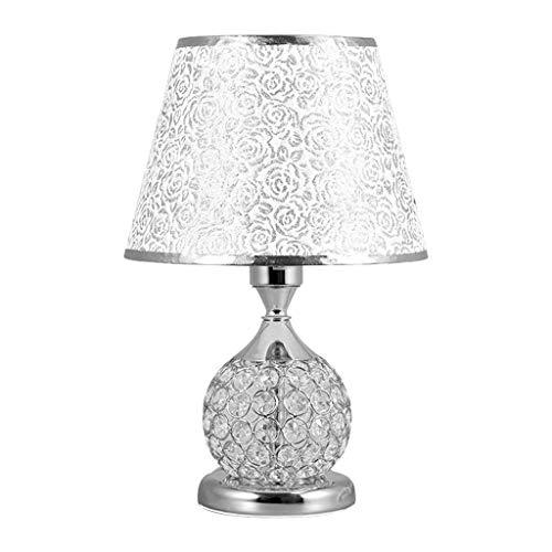 BTPDIAN Lámpara de Mesa de Estilo Europeo lámpara de cabecera del Dormitorio Regulable Creativa lámpara de Mesa del Dormitorio Princesa lámpara de mesilla de Noche lámpara de Mesa de Cristal