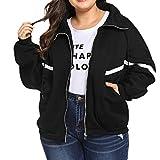 i-uend 2019 Damen Mantel - Langarm Pullover Kapuzenpulli Outwear Kapuzenjacke Sweatshirt Jacken Herbst Winter