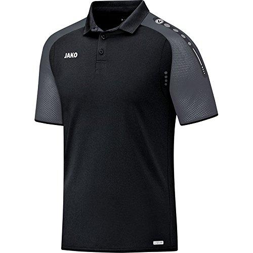 JAKO Herren Champ Polo, Schwarz/Anthrazit, XL (Champs-xl T-shirt)