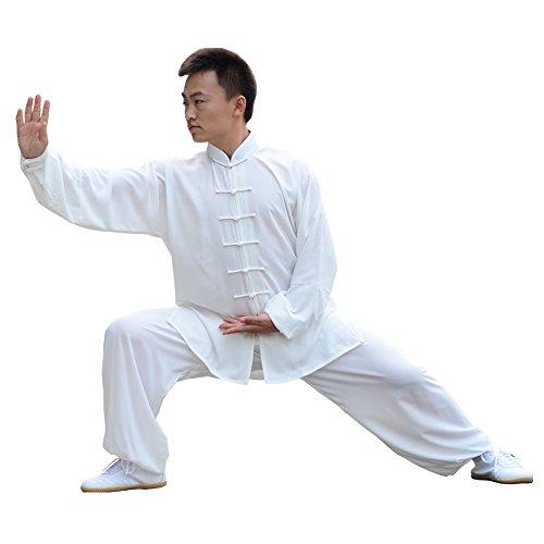 E-bestar tai chi abbigliamento con seta cotone per donna uomo unisex modelli gong fu arti marziali tai chi abiti abbigliamento (xxxl)