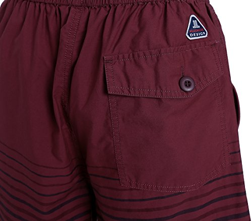 Promstar Badeshorts Boardshorts Badehose Sommer beachshorts herren Quick-drying shorts Grau