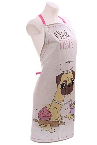 Mops-Design-Schrze-aus-Baumwolle