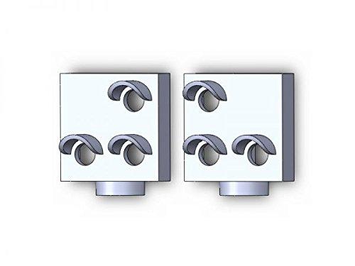 modellbahn-exklusiv - EOW Weichenlichtsignal (einfacher Abzweig), 2 Stück -H0-