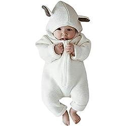 Amlaiworld Monos Bebe,Recién Nacido bebé niña niño Historieta 3D Mameluco del oído Monos Ropa de Invierno cálido Bodies Monos Peleles Ropa Bebes
