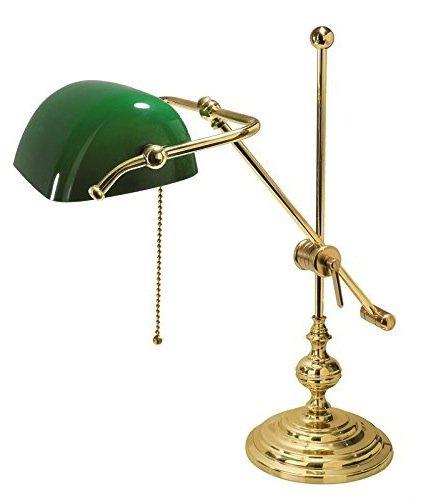 Lampada da tavolo Ministeriale Vetro Verde in Ottone...