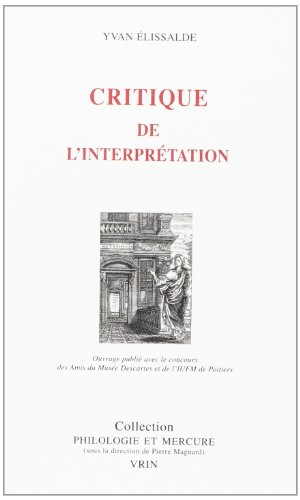 Critique de l'interprétation