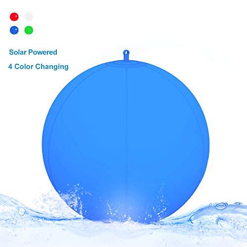 Luci per piscine galleggianti - Globo luminoso impermeabile gonfiabile del LED del LED/lampada di sfera di galleggiamento, luce di notte LED cambiante di colore all'aperto (1 Pack)