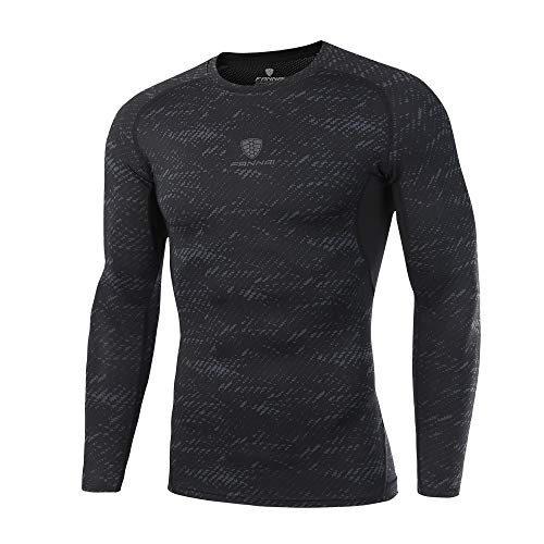 MEIbax Camiseta Blusa de Secado rápido Hombre Patchwork Faja Reductora Adelgazante Reductora Compresion Interior Manga Larga Fitness Gimnasio Aire Libre Ciclismo Ropa de Sauna Deportiva T Shirt