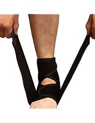 V.POINT Support de cheville réglable néoprène respirant de haute qualité + Coussin de cheville EVA + Bandage à compression