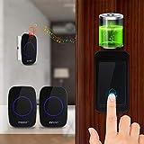 Batterielose Funkklingel Türklingel, Innoo Tech Funkklingel ohne batterien Türklingel,...