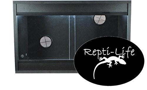 Repti-Life 24x15x15 Inch Vivarium Flatpacked In Black, 2ft Viv