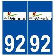 92 Meudon logo autocollant plaque stickers ville - droits