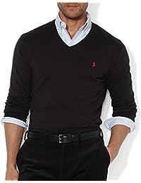 Ralph Lauren - Pull homme col v noir RA8923320