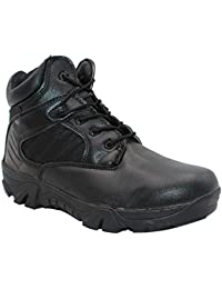 Yudesun Hombre Botas Militar Combate Seguridad - Zapatos para Hombre Botas de Servicio Trabajo Utilidad Impermeable